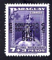 Paraguay #432, Error – Double Inverted Overprint,   MNH ...  4910314