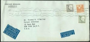 SWEDEN 1953 commercial airmail cover to USA................................60668
