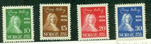 NORWAY #158-61, Mint Never Hinged, Scott $70.00