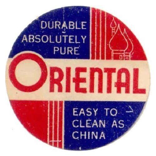 Oriental (Tableware) Advertising Poster Stamp