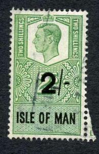Isle of Man KGVI 2/- Key Plate Type Revenue Used