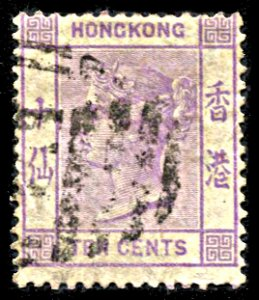 Hong Kong 14, used, Queen Victoria