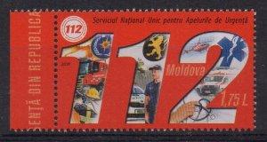 MOLDOVA - 2019 - EMERGENCY TELEPHONE - POLICE - FIRE DEPARTMENT - AMBULANCE -