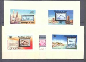 Chad 327,C206-09, MNH s/s Zeppelins