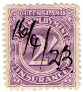 (I.B) Australia - Queensland Revenue : Unemployment Insurance 2/-