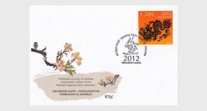 2012 ESTONIA  -  SG:672  -  YEAR OF THE DRAGON - FIRST DAY COVER