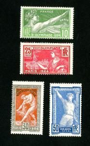France Stamps # 198-201 F OG LH Set of 4 Scott Value $41.00