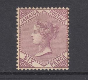 Jamaica Sc 51 MLH. 1909 6p dull violet Queen Victoria, nice appearing