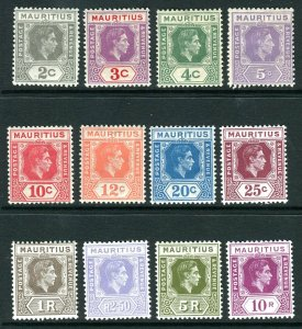 MAURITIUS-1935 Silver Jubilee.  A fine used set Sg 245-248