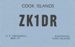 8659 Amateur Radio QSL Card  RAROTONGA COOK ISLANDS