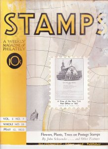 Stamps Weekly Magazine of Philately May 13, 1933 Stamp Collecting Magazine