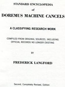 Book - Doremus Machine Cancels, Langford, 1988, 60 pages, HB
