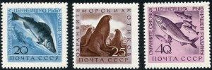 Russia Scott 2375-77 MF-VFNHOG - 1960 Fish Type Set - SCV $1.55