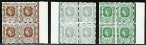 LEEWARD ISLANDS SCOTT#133/47 MARGIN BLOCK SET  MINT NH-SCOTT VALUE $271.00