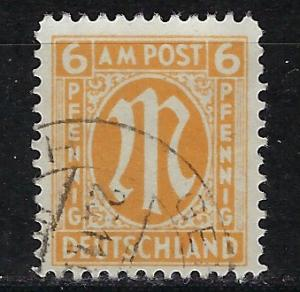 Germany AM Post Scott # 3N5, used, variation paper, experts h/s