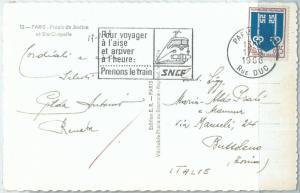 72060 - FRANCE - POSTAL HISTORY -  POSTMARK on POSTCARD 1966 - TRAINS  Railways