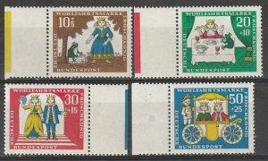 B419-21 Germany Semi Postal Mint OGNH 1966 Fairy Tale