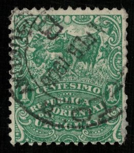 1904-1905, Uruguay, Local Motives, 1 centesimo, YT #161 (T-7427)