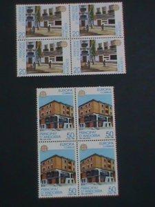 ANDORRA-1990 SC#205-6-EUROPA- 1990-POST OFFICE -MNH BLOCK OF 4-VERY FINE