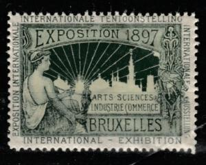1897 Exposition Bruxelles Internationale Tentoonstelling vignette MNH**