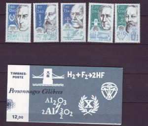 Z420 Jlstamps 1986 france set+complete bklt nh #b575-79a fam. people 1 stamp mh