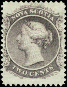 Canada, Nova Scotia  Scott #9 SG #22 Mint Hinged White Paper