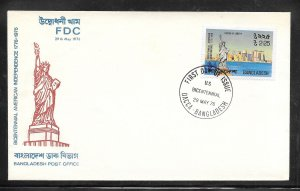Just Fun Cover Bangladesh #112 FDC BICENTENNIAL AMERICA INDPENDENCE (my2765)