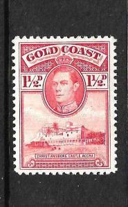 GOLD COAST  1938 1 1/2d KGVI  MLH P11 1/2x12  SG 121