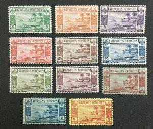 MOMEN: NEW HEBRIDES SG #F53-63 1938 MINT OG NH LOT #208652-2973