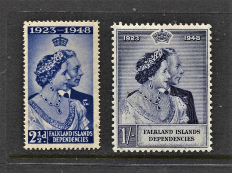 STAMP STATION PERTH -Falkland Is.Dep.#1L12 MNH OG VF Silver Wedding