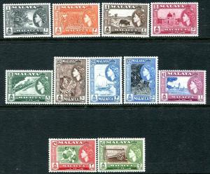 MALACCA-1957 Set to $5  Sg 29-49 LIGHTLY MOUNTED MINT V31503