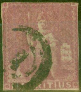 Mauritius 1858 (9d) Dull Magenta SG29 Ave Used