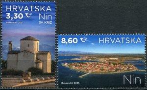 Croatia 2021. Tourism. Views of Nin (MNH OG) Set of 2 stamps