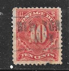 US # J56   10c  Postage Due  (U)  pre-canceled CV. $4.00
