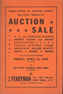 Ferryman: Sale # 5  -  U.S. & Foreign Stamps, Airpost Sta...