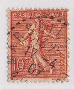 FRANCE - 1907 - CàD Bureau de Distribution  MARSEILLETTE / AUDE  sur n°129