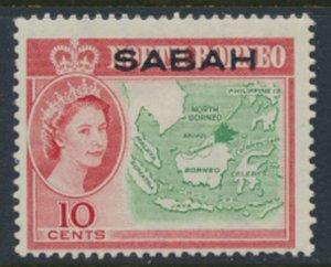SABAH Opt on North Borneo  SG 412  SC# 5 MVLH  Borneo Map see scans /details