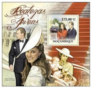 Mozambique MNH S/S Prince William & Kate & Diana 2011