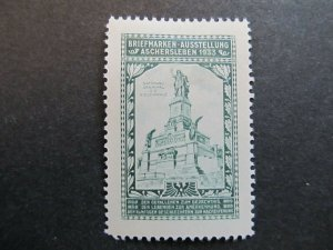 A4P2F43 Germany Poster Stamp 1933 International Philatelic Exhibition mh*