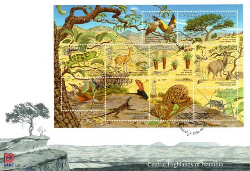 Namibia - 2001 Central Highlands FDC SG 896a