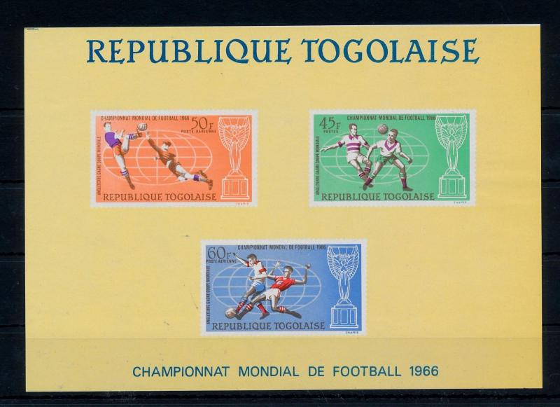 [60601] Togo 1966 World Cup Soccer Football England MNH Sheet