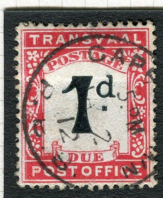 TRANSVAAL Postage Due issue Ed VII CAPE TOWN Postmark on 1d. value