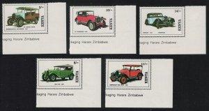 Kenya Vintage Cars 5v Corners 1992 MNH SG#575-579