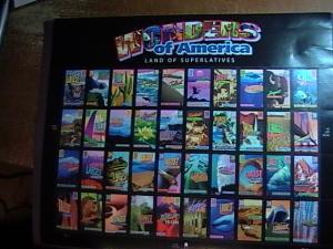 U.S.# 4033-4072(4072a)-MINT/NH-- PANE OF 40---WONDERS OF AMERICA---2006