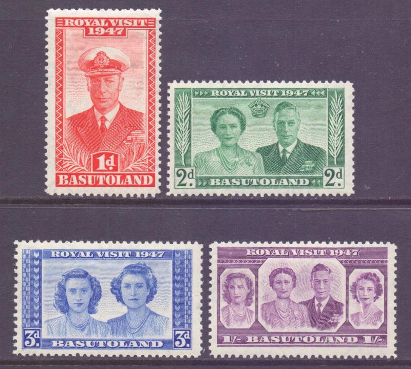 Basutoland Scott 35/38 - SG32/35, 1947 Royal Visit Set MNH**