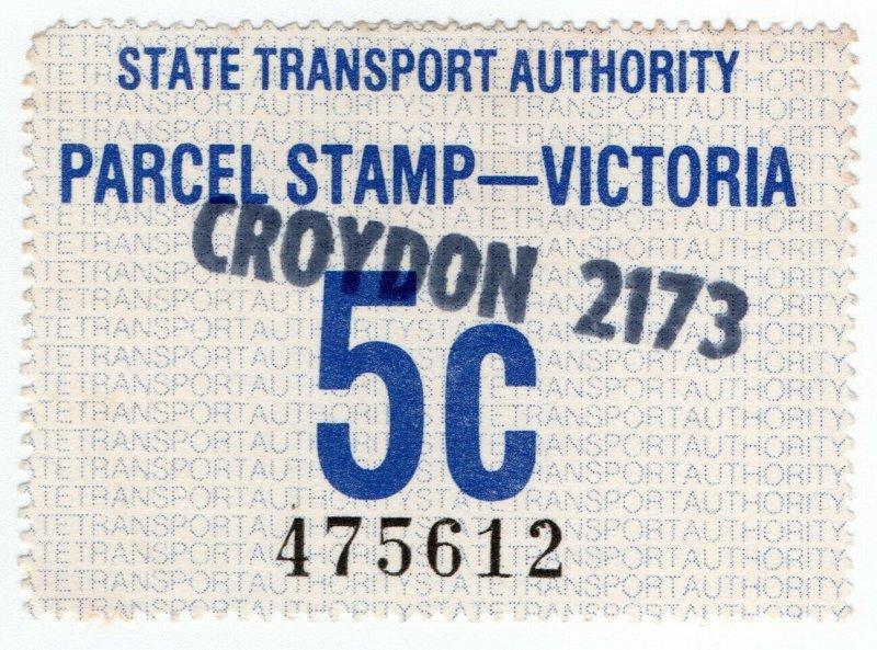 (I.B) Australia - Victoria Railways : Parcel Stamp 5c (Croydon)