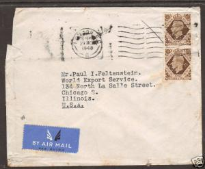 Great Britain Sc 248 Perfin AB/&Co on 1948 cover    4;9