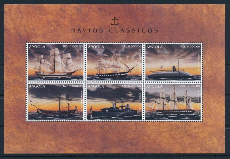 [81315] Angola 1996 War Ships Boats Constellation Sardegna Glasgow Sheet MNH