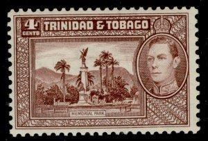 TRINIDAD & TOBAGO GVI SG249, 4c chocolate, M MINT. Cat £30.