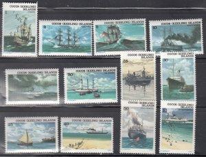 CoCos (Keeling) Island, Sc 20-31, MNH, 1976, Ships